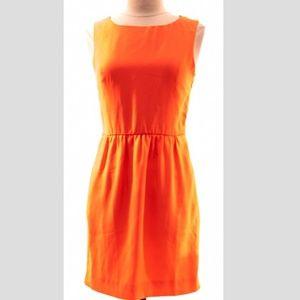 {J. Crew} Tangerine Orange Mini Dress sz 0